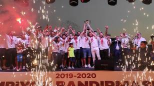 Bandırmaspor'da şampiyonluk kutlaması