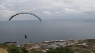 Trabzon'da yamaç paraşütü yarışması