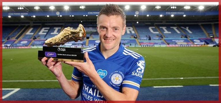 Jamie Vardy, gol kralı olarak altın ayakkabıyı aldı