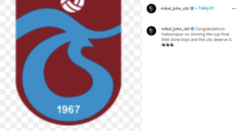 Mikel'den Trabzonspor mesajı