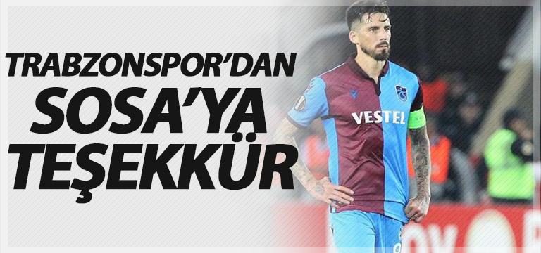 Trabzonspor Sosa'ya teşekkür etti