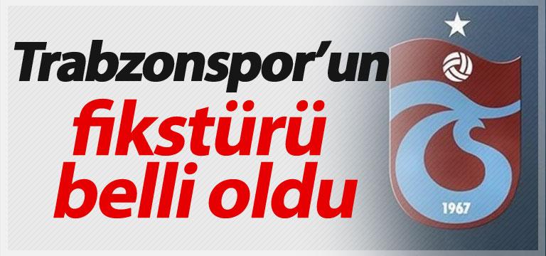 Trabzonspor'un fikstürü belli oldu