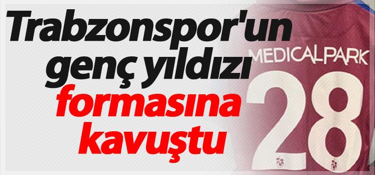 Trabzonspor'un genç yıldızı formasına kavuştu