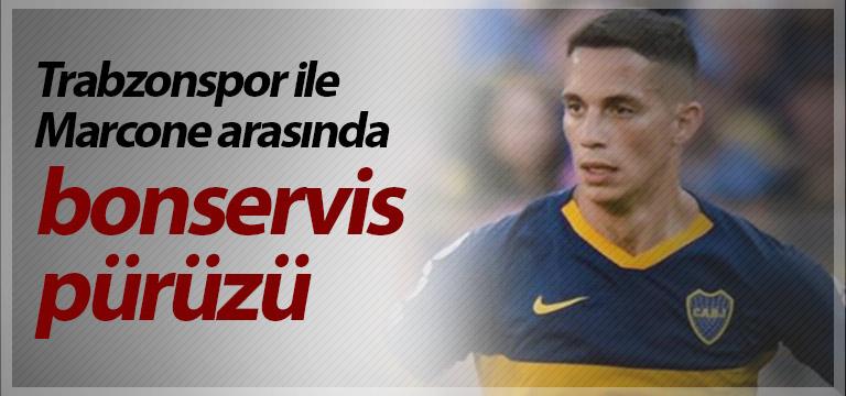 Trabzonspor ile Marcone arasında bonservis pürüzü