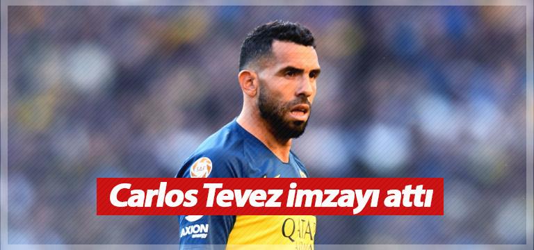 Carlos Tevez imzayı attı