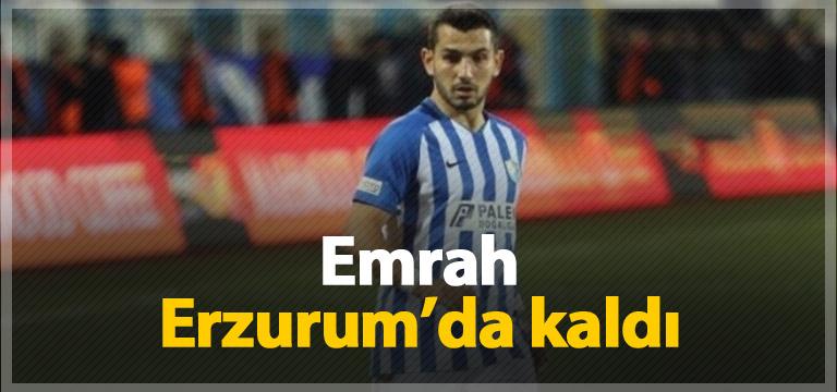 Emrah Başsan Erzurumspor'da kaldı