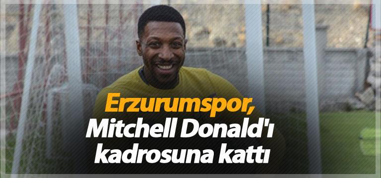 Erzurumspor, Mitchell Donald'ı kadrosuna kattı