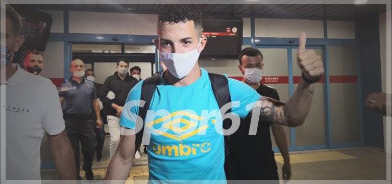 Trabzonspor'un yeni transferi Trabzon'da! Flávio Medeiros da Silva...