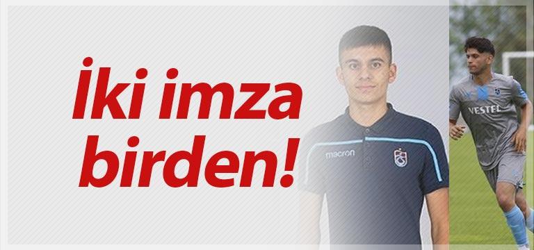 Trabzonspor'da iki imza birden