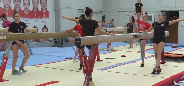 Milli cimnastikçiler, Avrupa Şampiyonası'na odaklandı