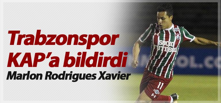 Trabzonspor KAP'a bildirdi! Marlon Rodrigues Xavier…
