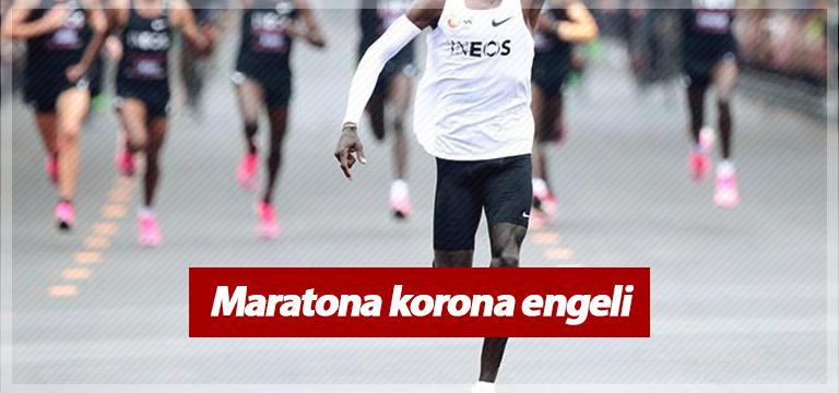 Maratona koronavirüs engeli