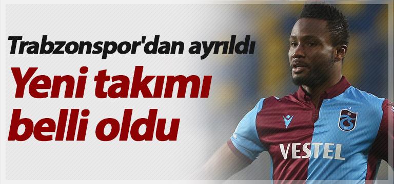 Trabzonspor'dan ayrıldı yeni takımı belli oldu