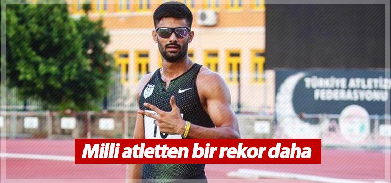 Milli atlet Sinan Ören bir rekor daha kırdı