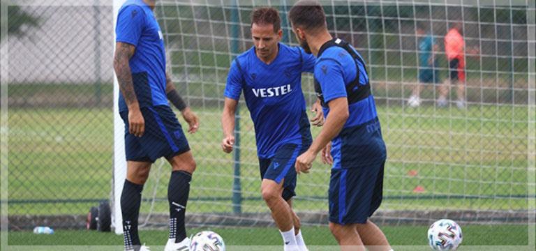 Trabzonspor sabah antrenmanını tamamladı