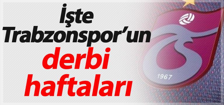 İşte Trabzonspor'un derbi haftaları