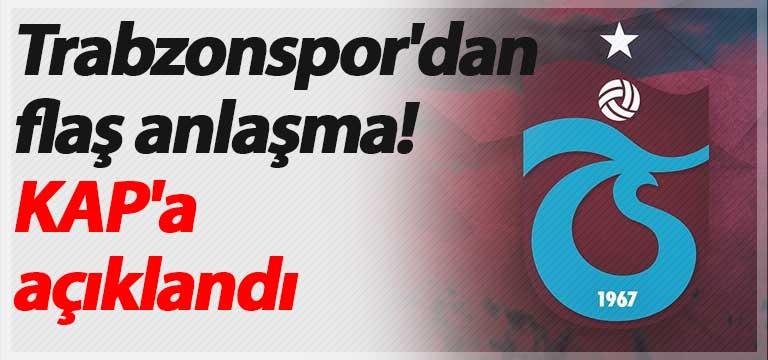 Trabzonspor'dan flaş anlaşma! KAP'a açıklandı