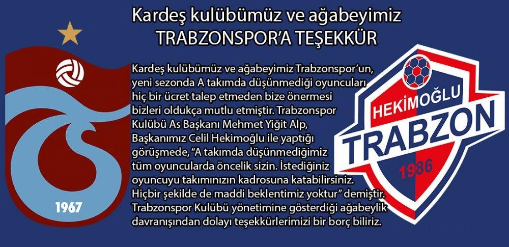 """Trabzonspor'dan Hekimoğlu Trabzon'a telefon: """"İstediğinizi alabilirsiniz"""""""