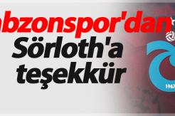 Trabzonspor'dan Sörloth'a teşekkür