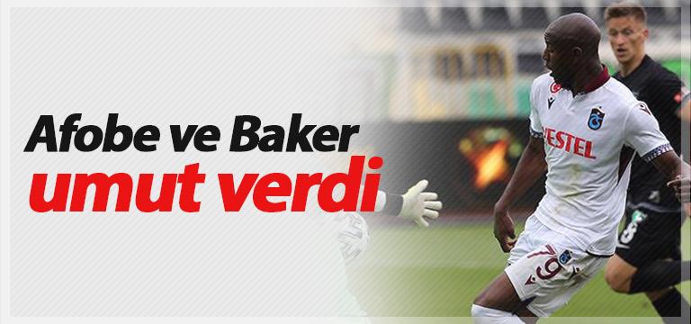 Trabzonspor'da Baker ve Afobe'ye geçer not
