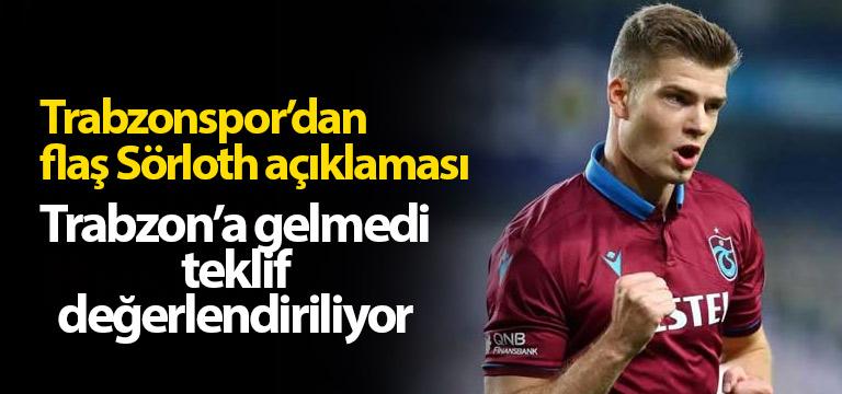 Trabzonspor'dan flaş Sörloth açıklaması