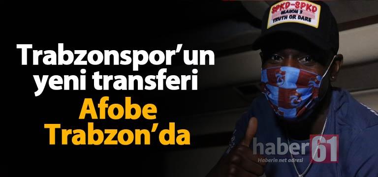 Trabzonspor'un yeni golcüsü Bennik Afobe Trabzon'da