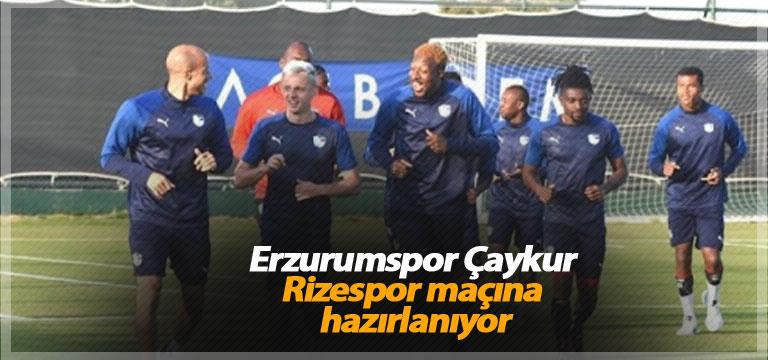 Erzurumspor Çaykur Rizespor maçına hazırlanıyor