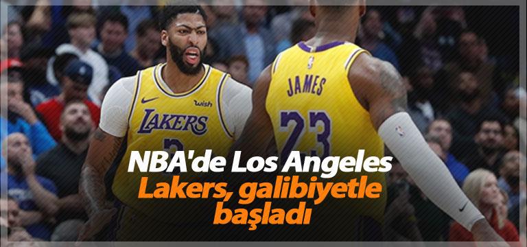 NBA'de Los Angeles Lakers, galibiyetle başladı