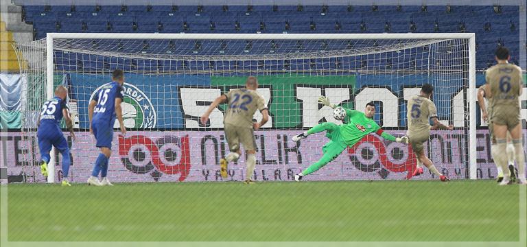 Çaykur Rizespor – Fenerbahçe maçında penaltı tartışması