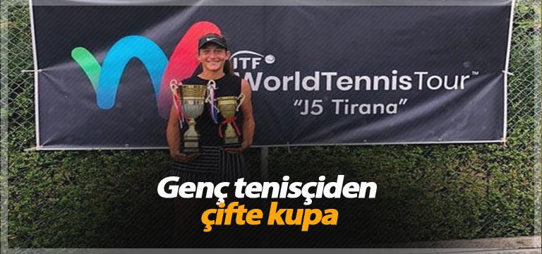 Genç tenisçiden çifte kupa
