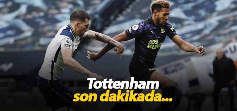 Tottenham son dakikada galibiyetten oldu