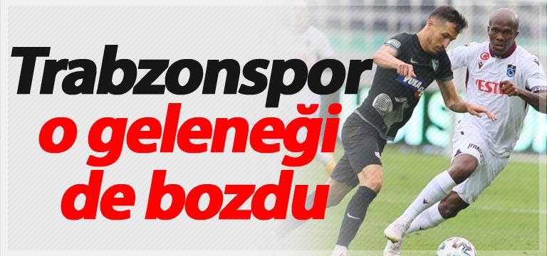 Trabzonspor o geleneği de bozdu