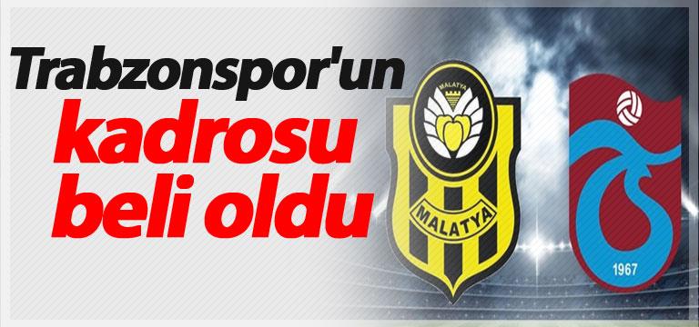 Trabzonspor'un kadrosu açıklandı
