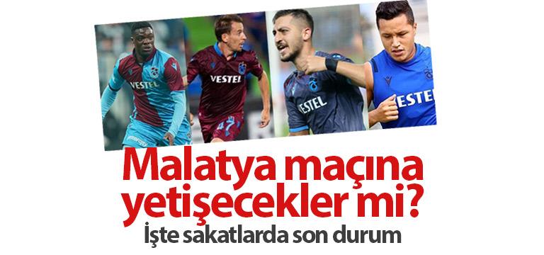 Trabzonspor'un sakatları maça yetişecek mi?