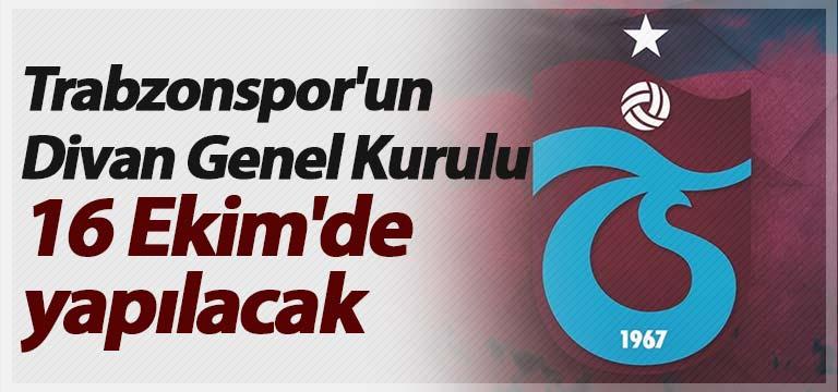 Trabzonspor'un Divan Genel Kurulu 16 Ekim'de yapılacak