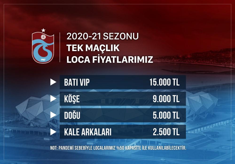 Trabzonspor loca fiyatlarını açıkladı
