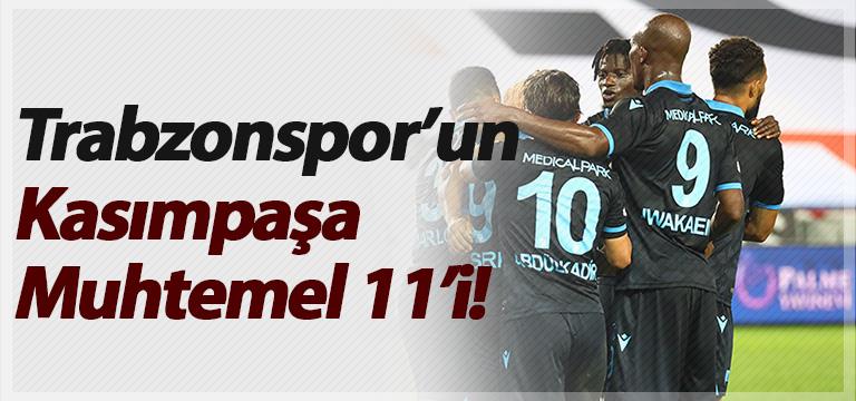 Trabzonspor'un Kasımpaşa Muhtemel 11'i!