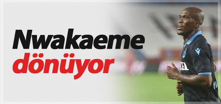 Nwakaeme Trabzon'a dönüyor