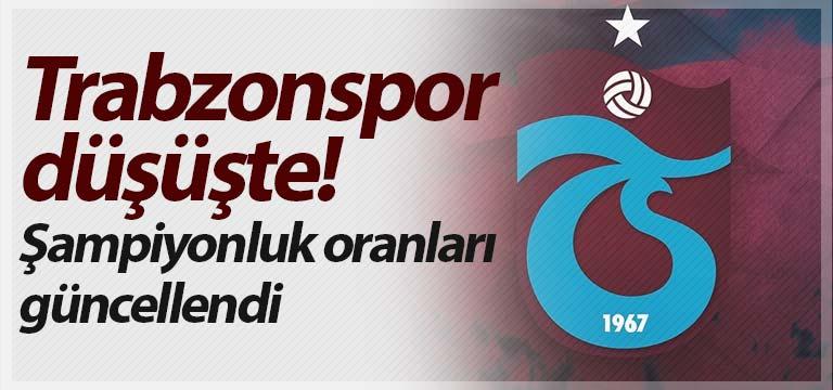 Trabzonspor düşüşte! Şampiyonluk oranları güncellendi