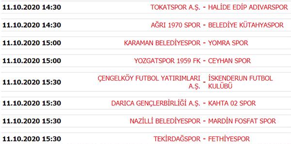 TFF 3. Lig'de son durum! Puan durumu ve 4. hafta maçları