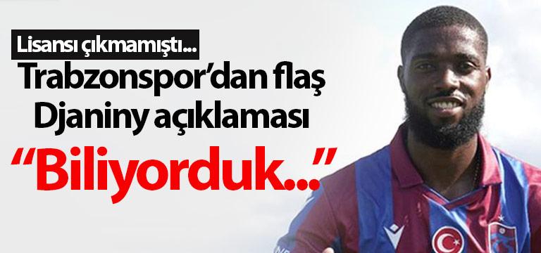 Trabzonspor'da Djaniny Semedo açıklaması!