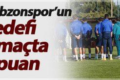 Trabzonspor'un hedefi 3 maçta 9 puan