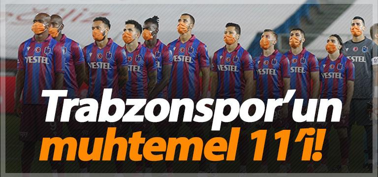 Trabzonspor'un muhtemel Alanyaspor 11'i!